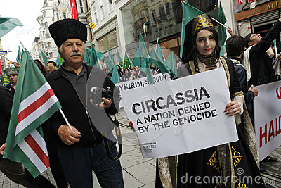 March to protest Circassian genocide Editorial Stock Image