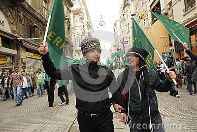 March to protest Circassian genocide Editorial Photo