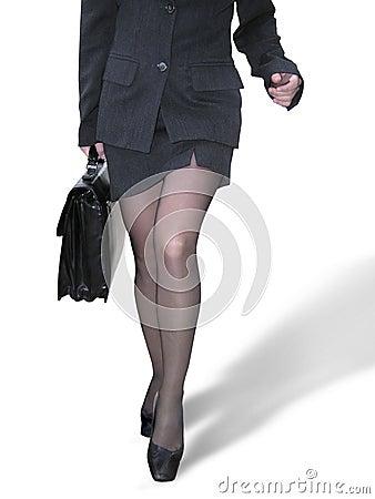 Marche de femme d affaires