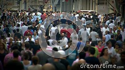 Marche de foule de personnes