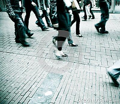 Marche de gens