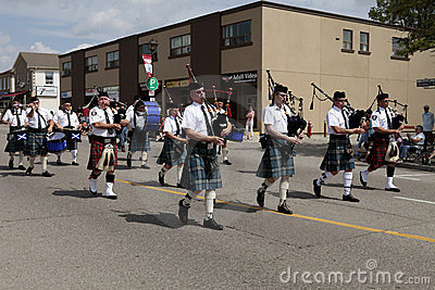 Marching bagpipes band Editorial Photography