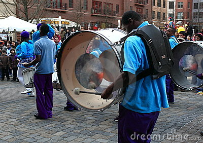 Marching Band Editorial Stock Photo