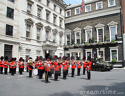 Marching Band of the Coldstream Guards Editorial Stock Photo