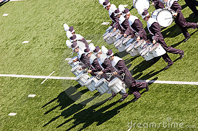 Marching Band Drumline Editorial Stock Photo