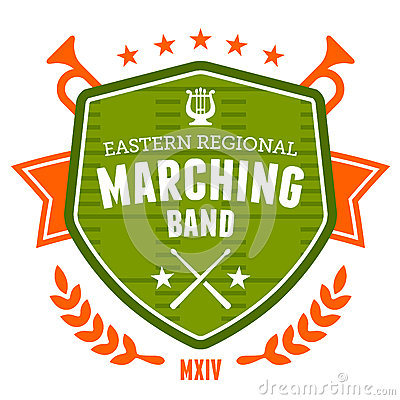 Free Marching Band Emblem Royalty Free Stock Images - 32451349
