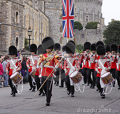 Marching band of the Grenadier Guards Editorial Photo