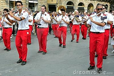 Marching band in Italy Editorial Photography
