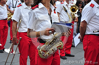 Marching band in Italy Editorial Image