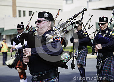 Marching band at St. Patricks Day Parade Editorial Stock Photo
