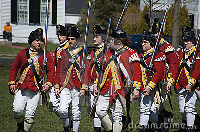 Marching British Redcoats Editorial Stock Photo
