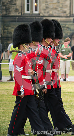 Marching at the Changing of the Guards Editorial Image