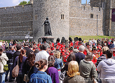 Marching Military Band by Windsor Castle Editorial Photo