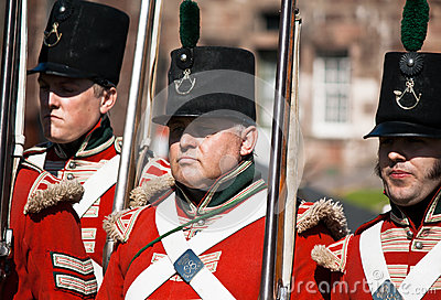 Marching Redcoats Editorial Stock Image