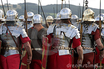 Marching Roman Army
