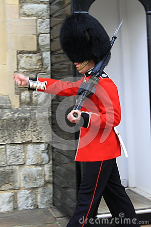 Marching Royal Guard Editorial Photography
