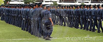 Marching Uniformed Men
