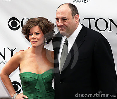 Marcia Gay Harden and James Gandolfini Editorial Stock Image