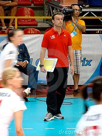 Marco Bonitta, Polish coach Editorial Stock Photo