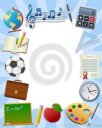 Marco de la foto de la escuela [3]