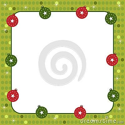 Marco de las bolas de la Navidad