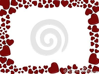 Dos enamorados corazones marco para dos fotos con este - Marcos de corazones para fotos ...