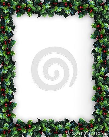 Marco del acebo de la Navidad