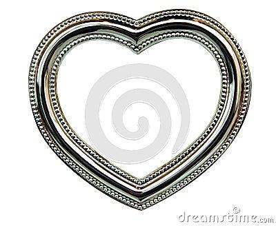 Marco del corazón del cromo