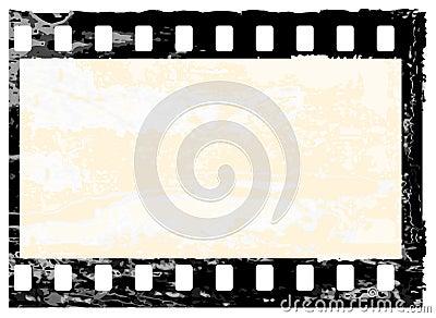 Marco del filmstrip de Grunge