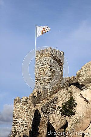 Marco do castelo do Moorish