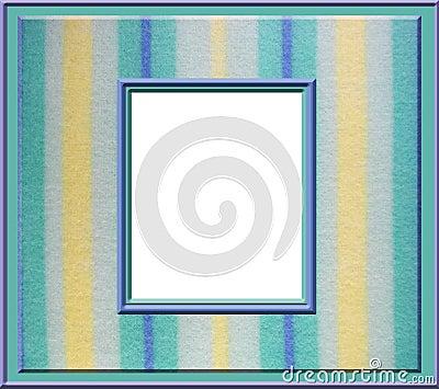 Marco en colores pastel de la raya