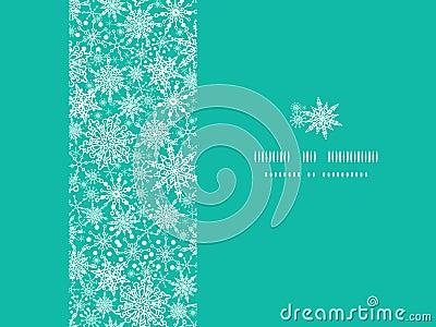 Marco horizontal de la textura del copo de nieve inconsútil