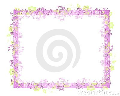 Marco o frontera de la vid de la flor del resorte