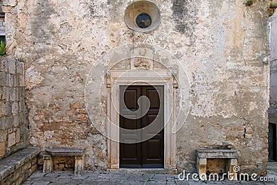 Marco polo huis in de oude stad van korcula kroati stock foto afbeelding 82684395 for Deco oude huis