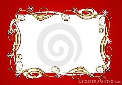 Marco rojo decorativo de la Navidad