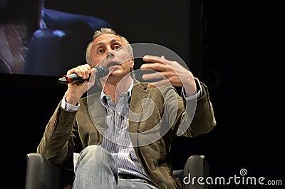 Marco Travaglio, famous italian journalist Editorial Image