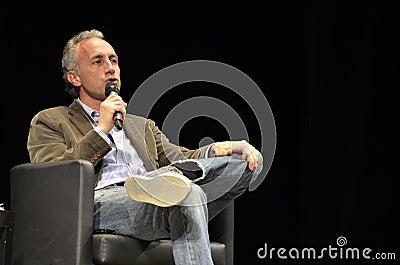 Marco Travaglio, famous italian journalist Editorial Stock Image