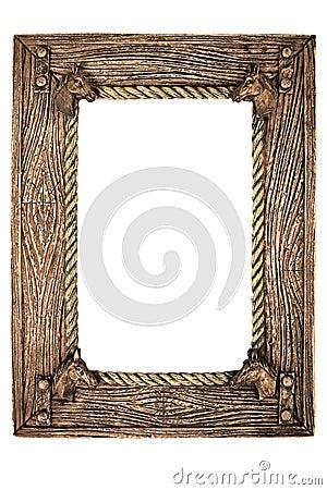Marco vacío de la foto (con el camino de recortes)