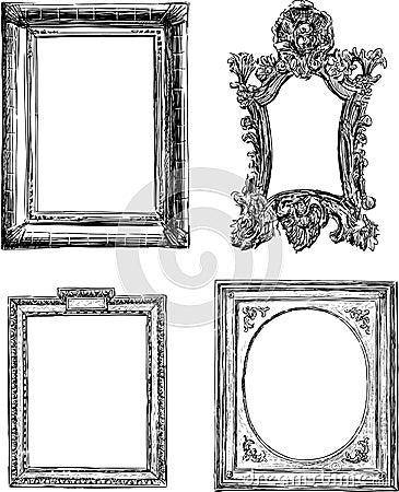 Marcos decorativos antiguos im genes de archivo libres de - Marcos de fotos para pintar ...