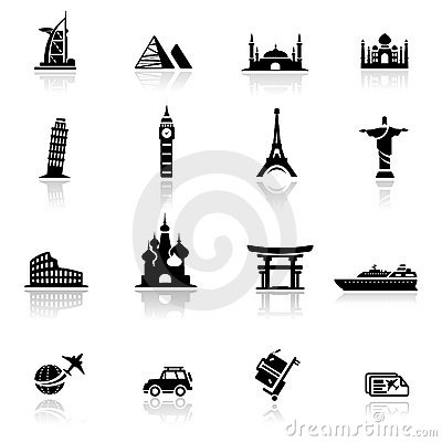 Marcos e culturas ajustados do ícone