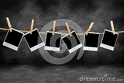 Marcos polaroid de la vendimia en un cuarto oscuro for Cuarto oscuro rayos x