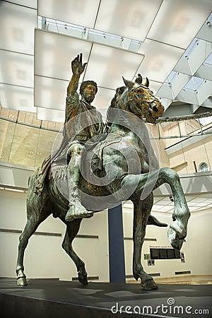 Marcus Aurelius in museum, Rome.