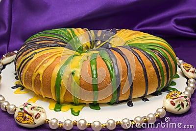 Mardi короля gras торта