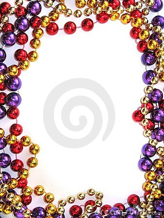 Free Mardi Gras Bead Border Royalty Free Stock Photos - 1633458