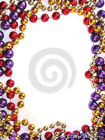 Mardi gras bead border