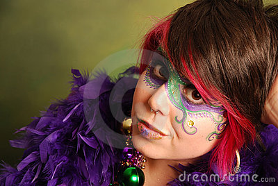 Mardi Gras Girl