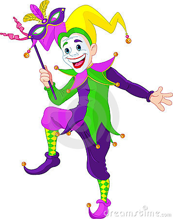 Free Mardi Gras Jester Royalty Free Stock Photography - 23060467