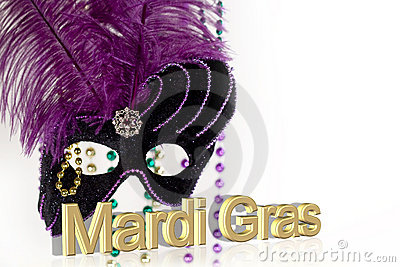 Mardi Gras Mask with text