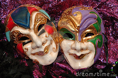 Mardi-gras masks