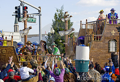 Mardi Gras Parade Editorial Stock Photo